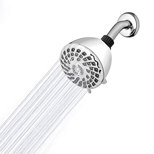 Waterpik PowerPulse Therapeutic Massage Shower Head with Quick Pause, Chrome, XQP-633