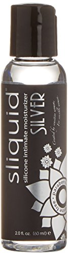 Sliquid Lubricants Silver Premium Silicone Based Intimate Lubricant, 2 Fluid Ounce
