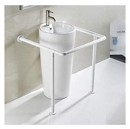 CZWYF Conexión a tierra de seguridad Barandilla, tocador de baño sin barreras Baranda, apto for mujeres embarazadas, ancianos y discapacitados, acero inoxidable, blanca