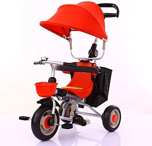 Lyl adecuado para niños de 1 a 3 años de edad plegable triciclo de equilibrio de bicicleta deslizante ligero carro niño niña (color: rojo)