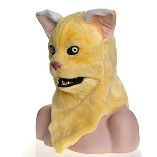 KEMANDUO Leopard Mask Gruselige Halloween-Kostüm Hockey-Maske Männlich Weiblich Erwachsener Kind Horror Cosplay (Farbe: gelb)