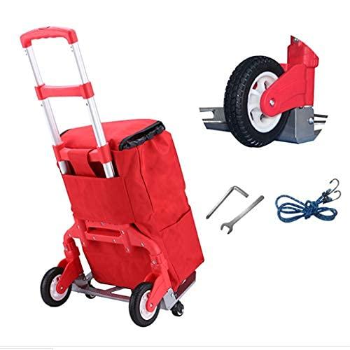 ZGW Carretilla de carga de 180 kg, resistente al desgaste, carro utilitario compacto y ligero para equipaje, compras personales, viajes, movimiento automático y uso en la oficina, plegable portátil