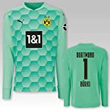 PUMA BVB Torwarttrikot grün Saison 2020/21, Größe:152, Spielername:1 Bürki