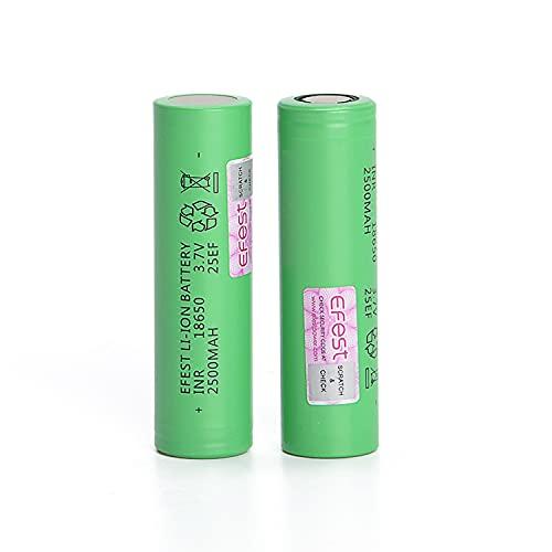 EFEST 2,5K mah 20A INR 25EF VERSIONE 2021 Batteria singola piatta ad alto drenaggio per Starter Kit sigaretta elettronica e MOD Senza Nicotina