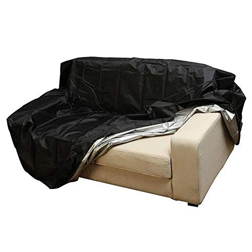 ZYF Garden Furniture Covers Patio Bench Sofa Set Cover Waterproof Outdoor Protection Cover,Black Patio Furniture Covers (Color : Black, Size : 162x66x89cm)