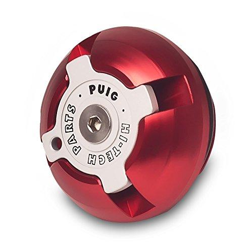 Puig 6155R Tapón Aceite Carter Hi-Tech, Color Rojo