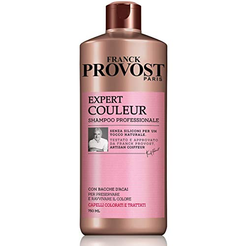 Franck Provost Shampoo Professionale Expert Couleur, Shampoo con Bacche D Acai per Capelli Colorati e Trattati, 750ml