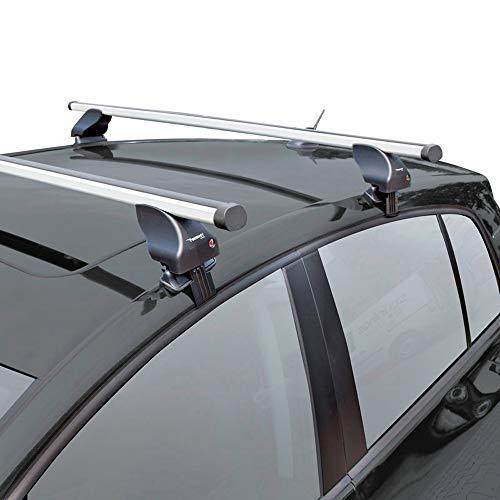Twinny Load Juego de Barras de Techo de Aluminio A53 Compatible con Audi Q2 2017- & Fiat 500X 2015- (para Coches sin Barras longitudinales)