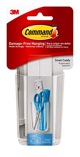 3M Command HOM-16 Caddy with Clear Strips - Small