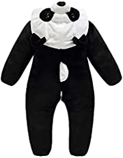SOIMISS Nyfödd djur med luva flanell panda jumpsuit babydräkt vinter jul unisex spädbarn pyjamas cosplay kläder baby fotografi rekvisita 70 cm