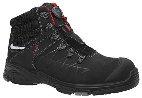 JORI Sicherheitsschuhe jo Max BOA Mid S3, Damen und Herren, Sneaker, sportlich, leicht, Schwarz, Kunststoffkappe - Größe 38