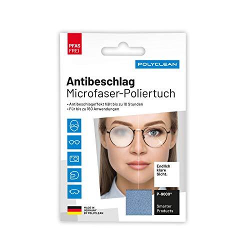 POLYCLEAN 1x Antibeschlagtuch - PFAS-freies Antifog-Tuch mit neuer Rezeptur - Made in Germany (1 Stück, ca. 18x12 cm)