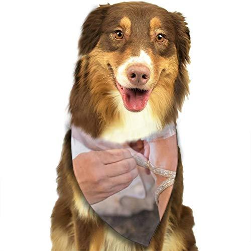 N/B Bbgsw persoon het dragen van ongepaarde witte sandaal aangepaste hond hoofddoek felgekleurde sjaals schattige driehoek slabbetjes accessoires voor huisdier honden