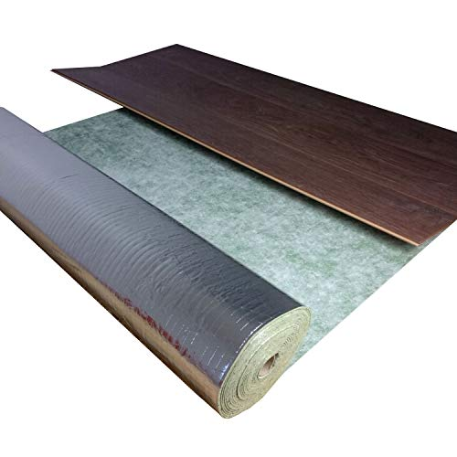 10 m² |Trittschalldämmung uficell® TOPSONIC AKUSTIC ALU - 3 mm stark - Trittschallverbesserung 22 dB - TOP geeignet bei Fußbodenheizung (3 mm Stärke, 10 m² / Rolle)