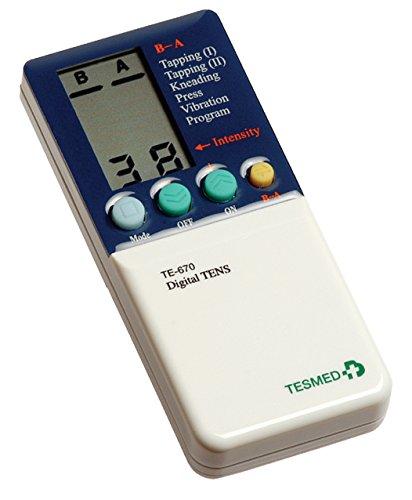 Elettrostimolatore Muscolare Tesmed TE670 - potente ed efficace, 76 tipologie di trattamenti addominali, Potenziamento, sport, estetica, tens Antidolori