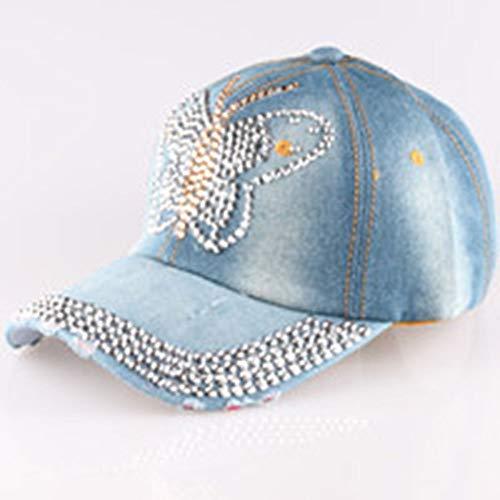 KDXBCAYKI Gorra de béisbol Denim Drill Denim de Mujer Nuevo Punto AliExpress Ebay Dunhuang Taobao Versión Coreana del Sombrero de Diamante Deportivo cómodo Respirable (Color : 3)