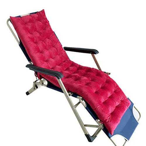 Tumbona Cubierta de Asiento de Banco Cojín Sun Lounger Cojines Patio de jardín portátil Acolchado Grueso Relajante de Cama reclinable, 155x48x8cm para Viajes en Interiores y Exteriores