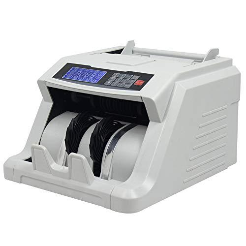 TYX-SS Contadores De Billetes, USD EUR GBP Fake Bill Detector Contador De Dinero, UV/MG Detección De Billetes Falsos con Pantalla LED