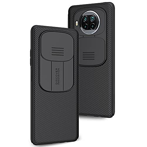 Funda para Xiaomi Mi 10T Lite, Protección de la cámara Carcasa Cubierta de cámara Deslizante Proteger Ultra-Delgado Híbrida PC Anti-Choque Anti-arañazos - Negro