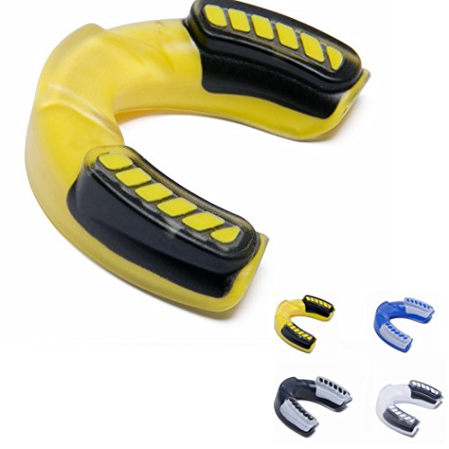 Beauf Athletic Mouthguard, Boxing Mouth Guard, Contact Sports Protective Gear,Mouth Guard Sports, Adult Mouth Guard - BPA Free - Fit 10 years & older Size Mouth (Yellow-02)