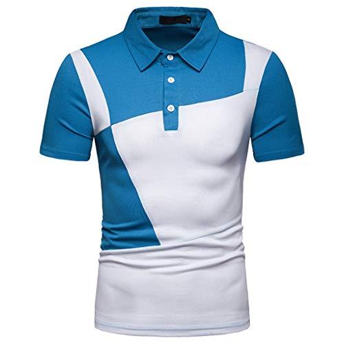 waotier Camiseta De Manga Corta para Hombre De Moderno Camiseta Solapa Casual con Dos Colores De Verano Ropa Hombre