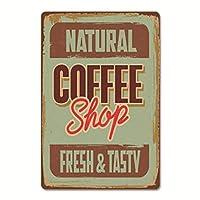NIOCAA メタルプレート ブリキ看板 コーヒーショップ coffee shop 装飾用プレート 雑貨 壁掛けプレート レトロ雑貨 インテリア バー クラブ 喫茶店 自宅装飾