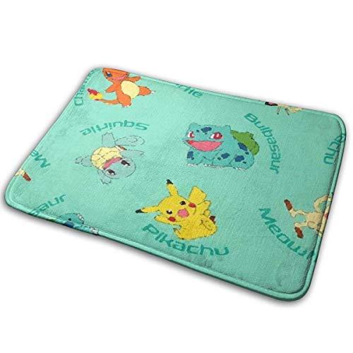 Bienvenido Pikachu Bulbasaur A Alfombra de puerta Alfombra de entrada para interiores y exteriores Alfombras de piso Alfombrilla de goma Alfombras finas antideslizantes para alfombrilla de puerta dela