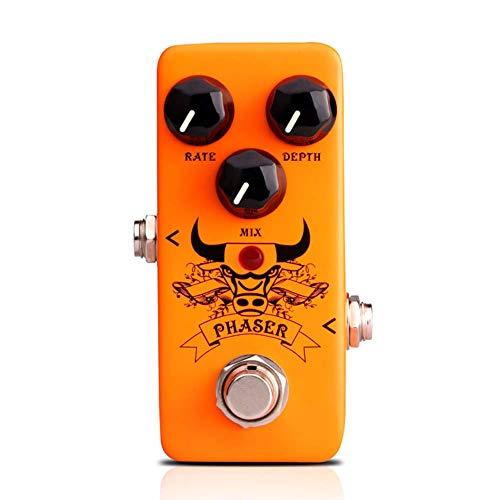 Mkiki Pedal de Guitarra Efecto Procesador Accesorios Portátil para Musical Instrumentos Bajo - Phaser