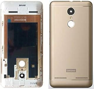 Backer لوحة الغطاء الخلفي الخلفي الخلفي للباب الخلفي لجهاز Lenovo K6 Power (K33a42) - تشمل مفتاح الإغلاق الفضي - رمادي