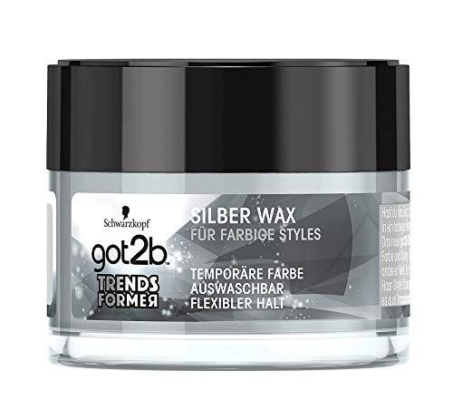 3 x got2b Trendsformer Haar-Wax Silber Farbe & Styles je 50ml Flexibler Halt