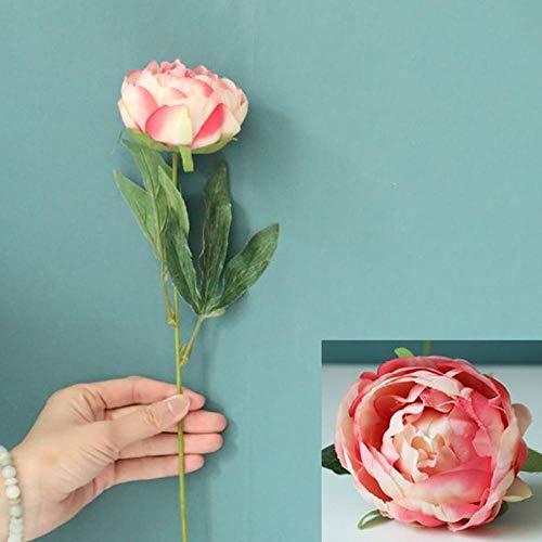 Künstliche Blume Künstliche Blumen Runde Rose Hochzeitsdekoration Künstliche Blumensträuße Wohnkultur Garten Gefälschte Blumen Pflanzen Pink