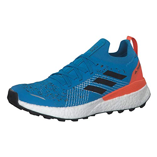adidas Terrex Two Ultra Parley, Zapatillas Deportivas Hombre, Sharp Blue/Core Black/True Orange, 45 1/3 EU