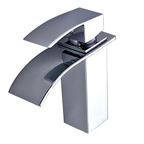 MCTECH® Waschtisch Wasserhahn Küchenarmatur Wasserhahn Waschtischarmatur Armatur für Küche Waschbecken (Type B Wasserhahn Wasserfall)