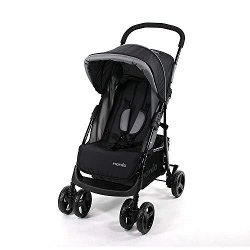 Silla de paseo TEXAS para niños de 6 a 36 meses - Con posición reclinada (gris)