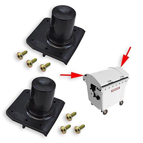 2 Stück SULO Deckelöffnungszapfen passend für SULO Müllcontainer mit Runddeckel - SULO Ersatzteil für Mülltonnen