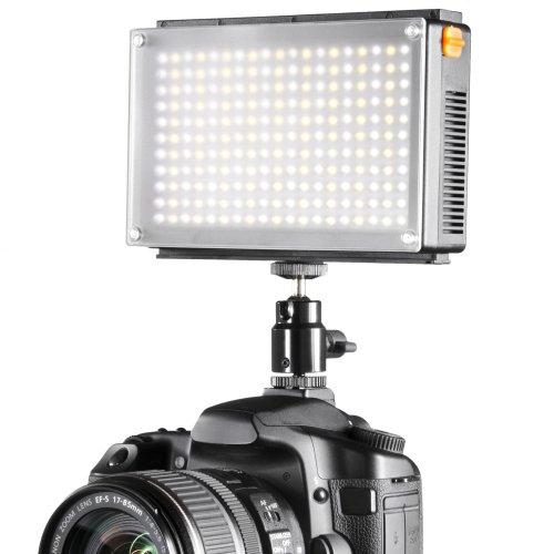 Walimex Pro - Luz de vídeo con 209 LED (Bicolor)