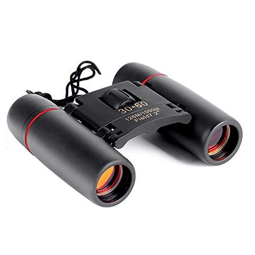 TWDYC Binoculares, Alta claridad 1000 Metros Telescopio 30x60 prismáticos Plegables con luz de la Noche de Baja Visión de Bird Watching al Aire Libre Viajes Stargazing Caza conciertos Deportes