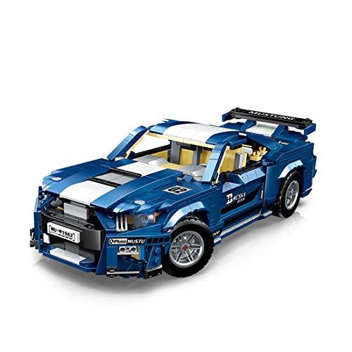12che Telecomando Technics Auto Compatibile con Lego Technics Supercar Costruzioni Modello RC Technic Sports Car per Ford Mustang Shelby GT500-1623 Pezzi 1:10 2.4G RC