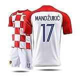 KLEDDP T-Shirt Herren-Kurzarm-Sportbekleidung für Trikot-Fußball-Trainingsanzug aus Kroatien Basketball-T-Shirt (Color : A, Size : M)