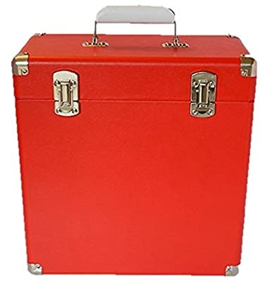 Portable Carry Case for LP Records and 12-Inch Vinyl (RED)