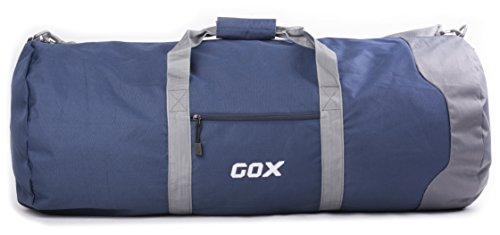 Borsone Pieghevole da Viaggio per Bagagli, GOX Premium Impermeabile Grande borsone da viaggio con tracolla in 1000D Polyester, per Sport, Palestra, Camping (Medium, Blu)