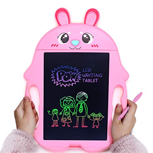M.best Scribble and Play Color LCD Writing Tablet, 9 Inch Doodle Board Drawing Board Electronic Writing Stylus Smart Paper Drawing Tablet Best Gift for Kids Boys Girls Adults (Rabbit, Pink)