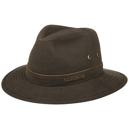 Stetson Avasun Waxed Cotton Traveller Women/Men Dark Brown 7 1/2-7 5/8