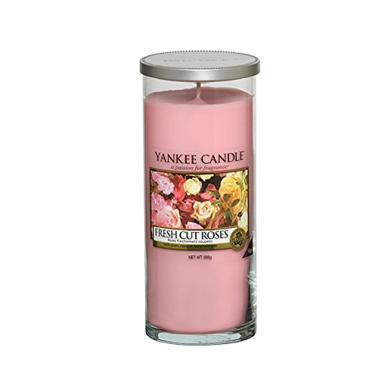 通行料金悲しみ屋内Yankee Candles Large Pillar Candle - Fresh Cut Roses (Pack of 6) - ヤンキーキャンドル大きな柱キャンドル - 新鮮なバラ切り花 (x6) [並行輸入品]