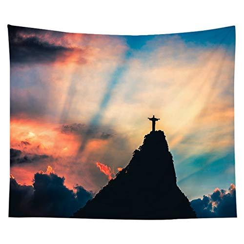 Tela para colgar, tela de fondo, tapiz de Jesús cristiano, junto a la cama, decoración del dormitorio, tela de fondo, tela a1 73x95 cm
