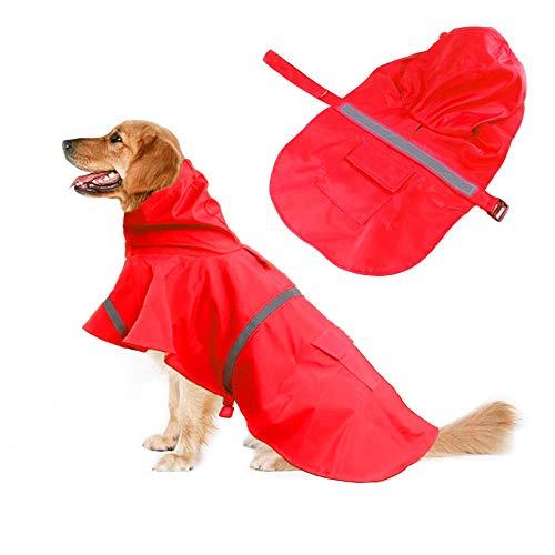 Chubasquero Reflectante para Perros, Ropa Impermeable Ajustable para Mascotas, Chaqueta de Poncho Ligera para Lluvia para Mascotas, Sudaderas con Capucha para Perros pequeños, medianos y Grandes