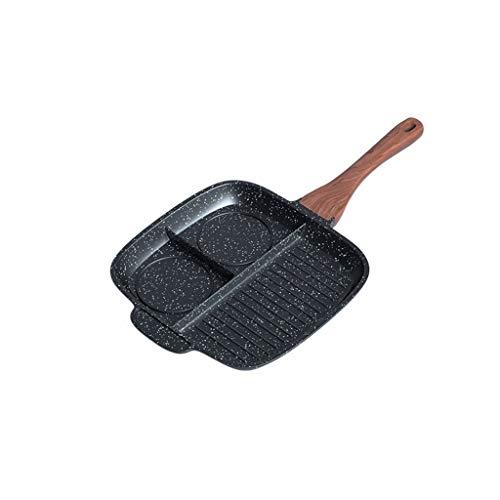 Multifunctionele anti-aanbakpan|Flat Bottom Frying Pan| met anti-scalding Handle|Makkelijk schoon te maken|Geschikt voor alle kookplaten, inclusief inductie AAA~ 26x26x3cm