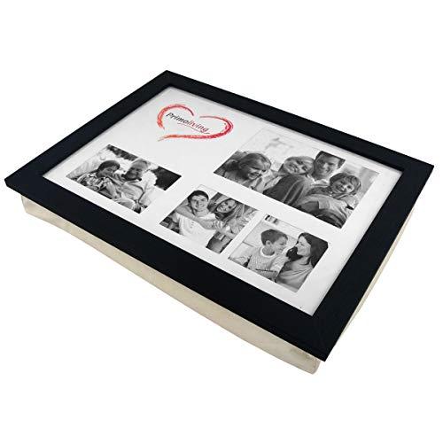 PrimoLiving Knietablett P-779 mit Kissen und Fotorahmen schwarz