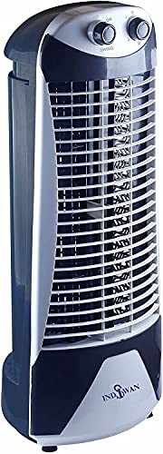 INDISWAN High Speed Tower Fan With 35 Feet Air Delivery, 3 Speed 2 Way Air deflection & High Speed 2250 m3/hr (Heavy Motor, 1200 Rpm ) (White)