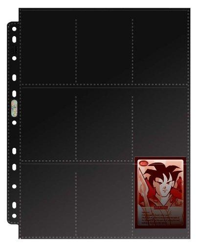 Asmodée 82826 - Juego de 10 Forros A4 para cromos, Color Negro